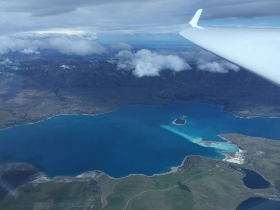 Lake Tekapo while doing a height gain